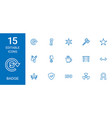 15 badge icons vector image vector image