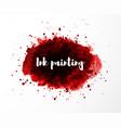 abstract grunge red splash blood splatter vector image