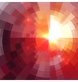 Abstract red shining circle tunnel background vector image vector image