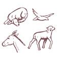 animals sketch vector image vector image