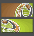 Banners for american football vector image
