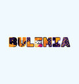 bulemia concept word art vector image vector image