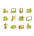 Business and technology icons vector image