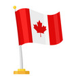 canada waving flag vector image