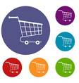 cart icons set vector image vector image