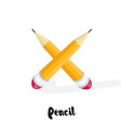 cartoon pencils isolated on white vector image