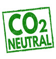 co2 neutral sign or stamp vector image vector image
