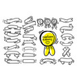 collection of ribbons drawing in cartoon style vector image vector image