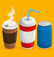 colorful beverages design vector image