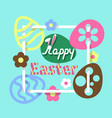 colorful easter flat background vector image vector image