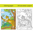 coloring and color leopard vector image vector image