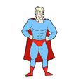 comic cartoon superhero vector image vector image