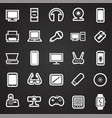 cool gadgets and electronic devices set on black vector image