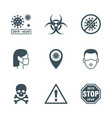 coronavirus icons set vector image