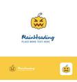 creative pumpkin logo design flat color logo vector image vector image