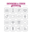 Devices and technologies linear icons set Thin vector image vector image