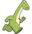 dinosaur running vector image vector image