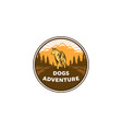 dogs adventures logo designs vector image