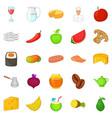duty icons set cartoon style vector image vector image
