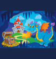 fairy tale image with dragon 8 vector image