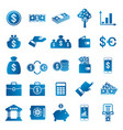 finance and money related blue gradient icons vector image