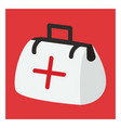 first aid on white background vector image