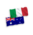 flags of italy and australia on a white background vector image