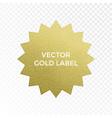 gold label star multi point golden glitter vector image