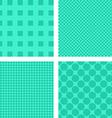 Green abstract geometric shape wallpaper set vector image vector image