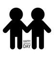 happy friendship day two black man male vector image vector image