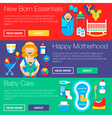 Happy Motherhood Banners vector image vector image