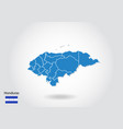 honduras map design with 3d style blue honduras vector image vector image