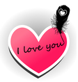 I love you on the heart vector image vector image