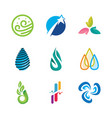 icons or symbols of natural energy vector image