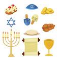 judaism church traditional symbols jewish hanukkah vector image