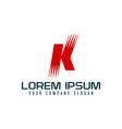 letter k logo design concept template vector image vector image