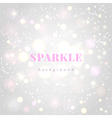 Light silver sparkle background vector image