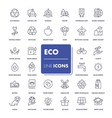 line icons set eco vector image