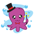 Magician Octopus vector image vector image