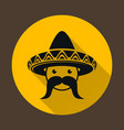 Mexican with sombrero vector image vector image