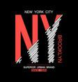 nyc modern t-shirt vector image vector image