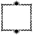 Oldstyle ribbon frame vector image vector image