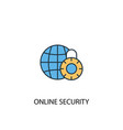 online security concept 2 colored icon simple vector image vector image