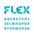 paper font alphabet with fold effect letters vector image vector image