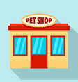 pet street shop icon flat style vector image vector image