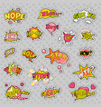 Pop art comic speech bubbles set