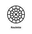 roulette line icon vector image
