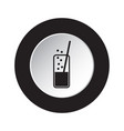 round black white icon - carbonated drink straw vector image