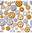 seamless pattern background with gears vector image vector image
