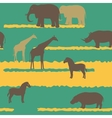 Seamless pattern with african animals vector | Price: 1 Credit (USD $1)